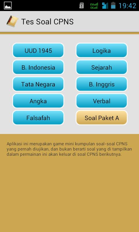 Screenshot 2014 06 01 19 42 46 Simulasi CAT CPNS Untuk Android