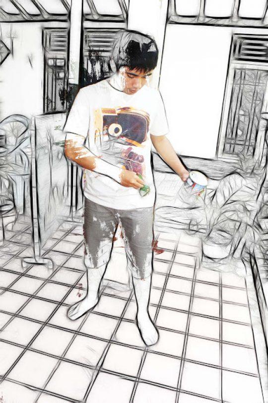 Permalink to Manipulasi Sketsa dengan Brush Spaltter dan Fractalius dengan photoshop