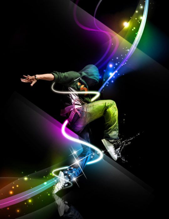 Permalink to Penggunaan efek glow di Dance Ray dengan photoshop