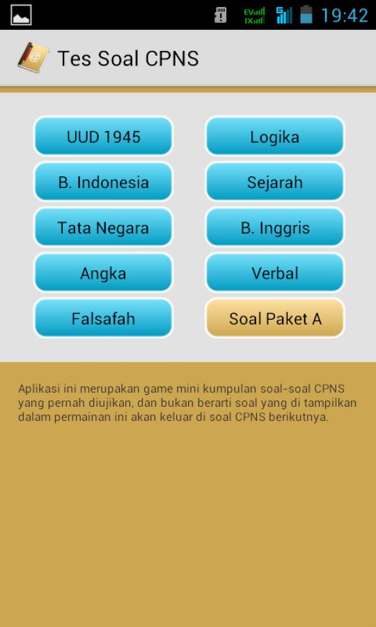 Permalink to Simulasi CAT CPNS Untuk Android