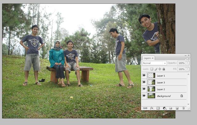 latar4 Trik membuat foto cloning dengan DSLR/Camdi dan photoshop