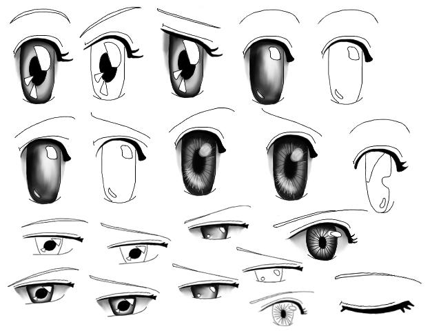 mata anime Brush mata untuk kartun