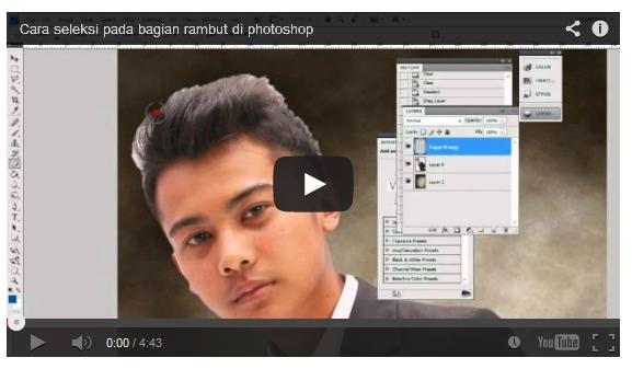 rambut Cara seleksi pada bagian rambut di photoshop